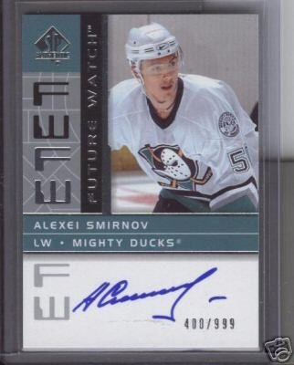 Alexei Smirnov '01-'02 SP Authentic Future Watch Auto #