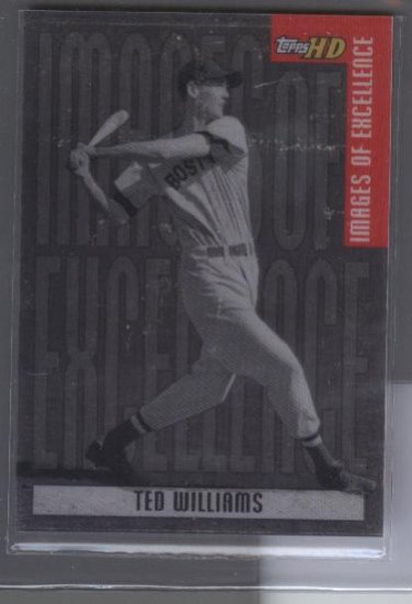 Ted Williams 2001 Topps HD 'Images of Excellance' Aluminum