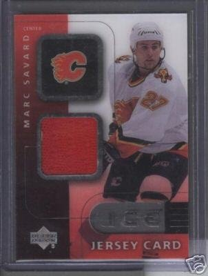 Marc Savard '01 UD ICE Game Jersey Card