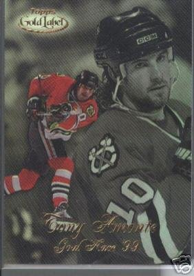 Tony Amonte '99 Topps Gold Label Goal Race '99