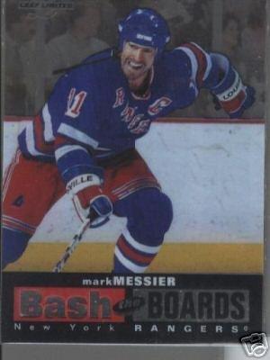 Mark Messier '97 Leaf Ltd. BASH THE BOARDS #d Card