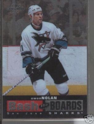 Owen Nolan '97 Leaf Ltd. BASH THE BOARDS #d Card
