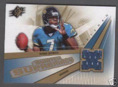 Byron Leftwich '06 SPx Swatch Supremacy Jersey Card