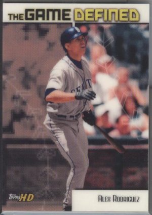 Alex Rodriguez Topps HD 'The Game Defined'