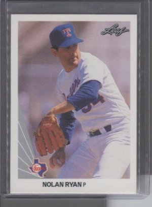 Nolan Ryan 1990 Leaf Card