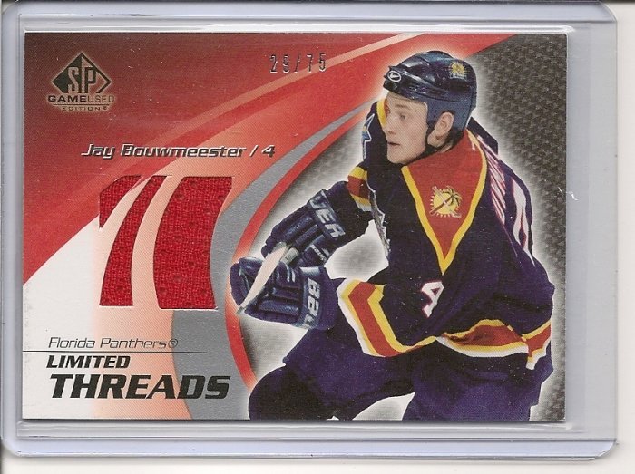 Jay Bouwmeester '04 SP Game Used Ltd. Threads #d