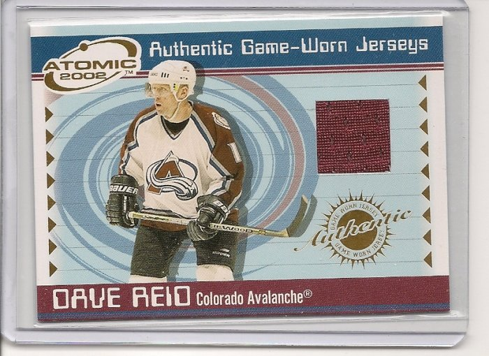 Dave Reid '02 Atomic Game-Worn Jersey Card