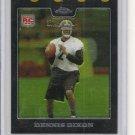 Dennis Dixon 08 Topps Chrome Rookie Card Steelers