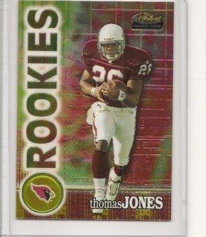 Thomas Jones '00 Topps Finest Chrome Rookie Card #d
