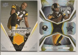 Limas Sweed 2008 Leaf Rookies & Stars Jersey RC #d+UDRC