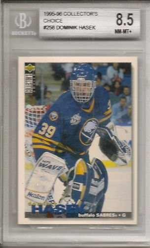 Dominik Hasek 1996 Collector's Choice BGS 8.5