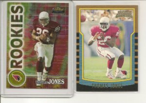 Thomas Jones 2000 ROOKIE CARDS L@@K