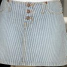 Abercrombie and Fitch Striped Blue Short Mini  Skirt size 4