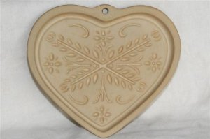 Pampered Chef Anniversary Heart Cookie Mold Stone