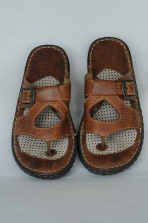 Born Womens Open Toe Brown Leather Sandal 7/38 MW EC