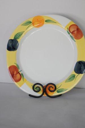 Ceramica San Marciano Dinner Plate Plum Apple Peach Pattern