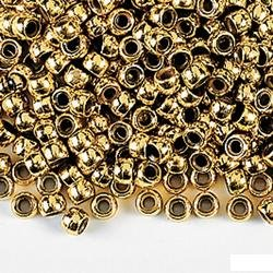 150 GOLD PONY BEADS (CRAFTS, JEWELRY)