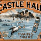 Vintage Print Reproduction Castle Hall Cigar Ad