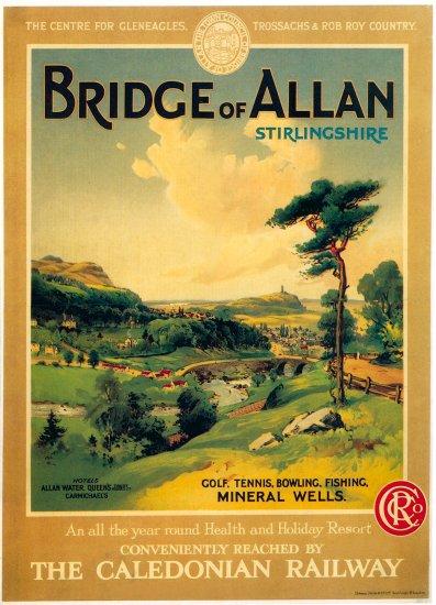 Bridge of Allen Print Reproduction Railway