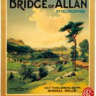 Bridge of Allen Print Reproduction Railway