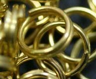 100 6 mm Split Rings 50/50 Gold And Silver