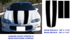 98-02 Chevy Chevrolet Camaro rally racing stripe vinyl decal decals
