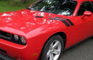 08 09 10 Dodge Challenger hood to fender decal decals
