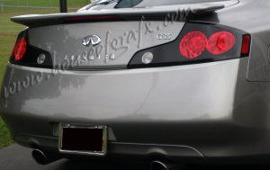 4 hole GTR tail light overlays decal 03-05 Infiniti G35