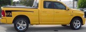 Rear Hockey stripe decal decals fit 09+ Dodge Ram