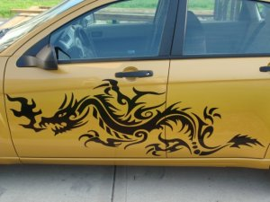 Dragon car truck side body graphics decal decals D2 fits Dodge Chevy Ford Nissan Mini Nissan