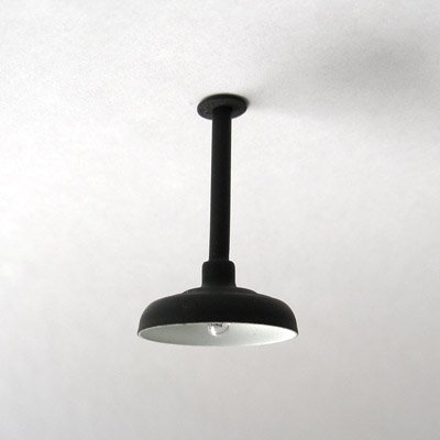 Ceiling / Drop Down Lamp / Light for Large / G-Scale Model Train Layout Buildings - Black