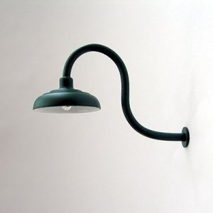 Gooseneck Lamp / Light for Large / G-Scale Model Train Layout Buildings - Green