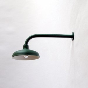 L-Shaped / 90º Lamp / Light for Large / G-Scale Model Train Layout Buildings - Green
