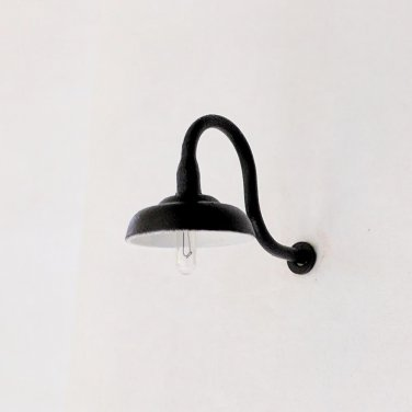 Gooseneck Lamp / Light for O-Scale Model Train Layout Buildings - Black