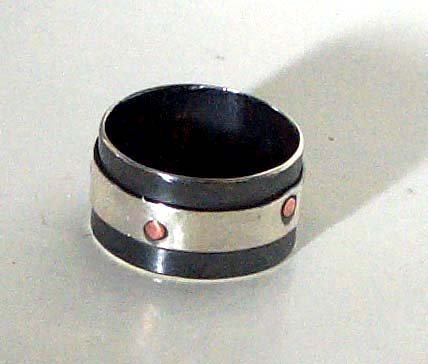 riveted ring - Sterling Silver, Argentium Sterling Silver, Copper