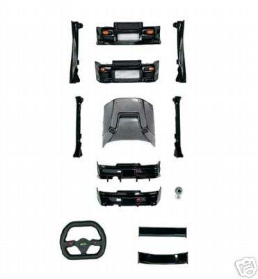 xmods Black Nissan Skyline Body Kit