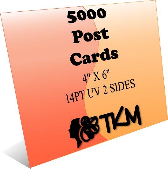 5000 4x6 Post Cards 14PT Double Sided UV Coated Custom