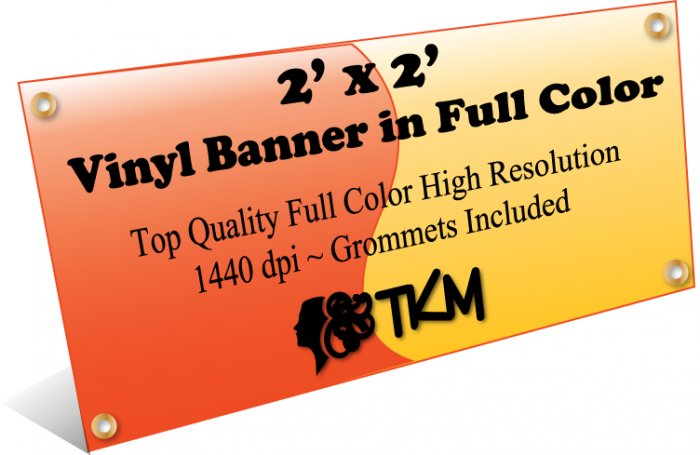 Custom 2'x2' Top Quality Full Color High Resolution Vinyl Banner