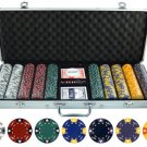 13.5g 500pc Ace King Tricolor Clay Poker Chip Set