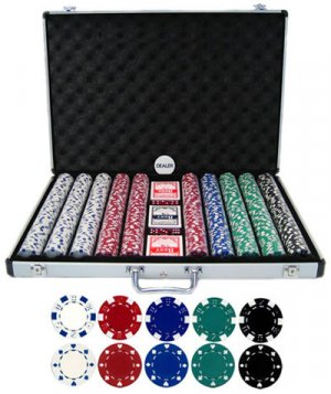 1000 piece 11.5g Poker Chip Set