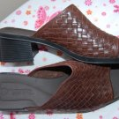 Montego Bay Club Leather Made Brazil Womens size 10 High Heel Sandal Slides Mules