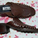 Vintage Leather Brown Mules Size 10 Sandals Womens Shoes