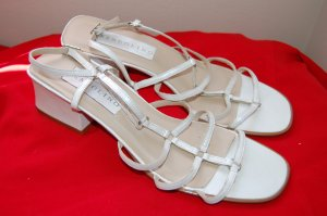 Bandolino Sz 10 Made n Brazil Leather White Strappy Sandals Womens Shoes