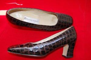 Vintage Etienne Aigner Brown Alligator Gator Pumps Sz 8 N Made N Spain Womens Shoes