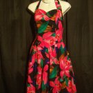 Vintage 1970s Handmade Hawaiian Flowered Swing Sundress Dress Womens Size 8