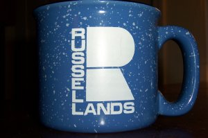 Advertising Russell Lands R 4' Wide Mouth Collectible Coffee Mug