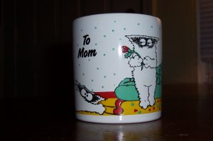 Vintage To Mom Cats Collectible Coffee Mug Cup Made in England