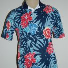 Mens Blue Giant Flowered Hawaiian by Reed St James Shirt Top Size Medium M