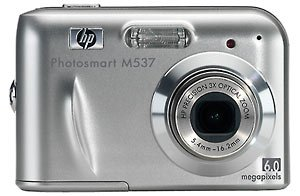 NEW HP Photosmart M537 6MP Digital Camera with 3x Optical Zoom