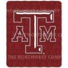 """NCAA Light Weight Fleece Blanket - 50""""""""x60"""""""" - Texas A&M"""